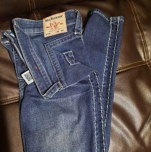 True religion high rise skinny jeans